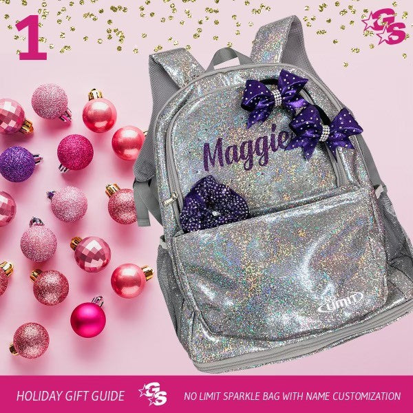 Custom Sparkle Bag with Name Customization - Silver Holo Sparkle (10 Days of GlitzMas Day 1)