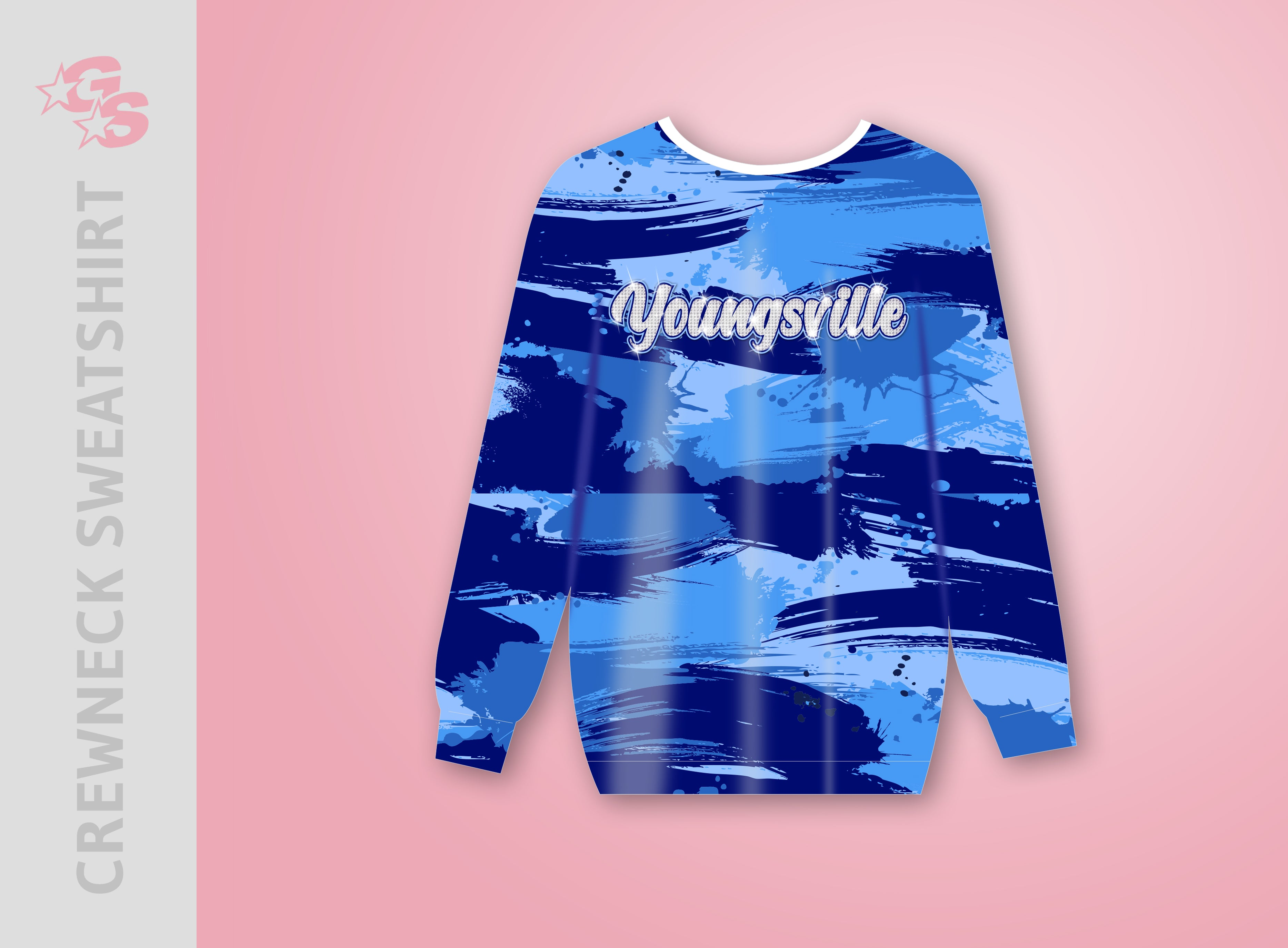 Youngsville Club Cheer Crewneck Sweatshirt