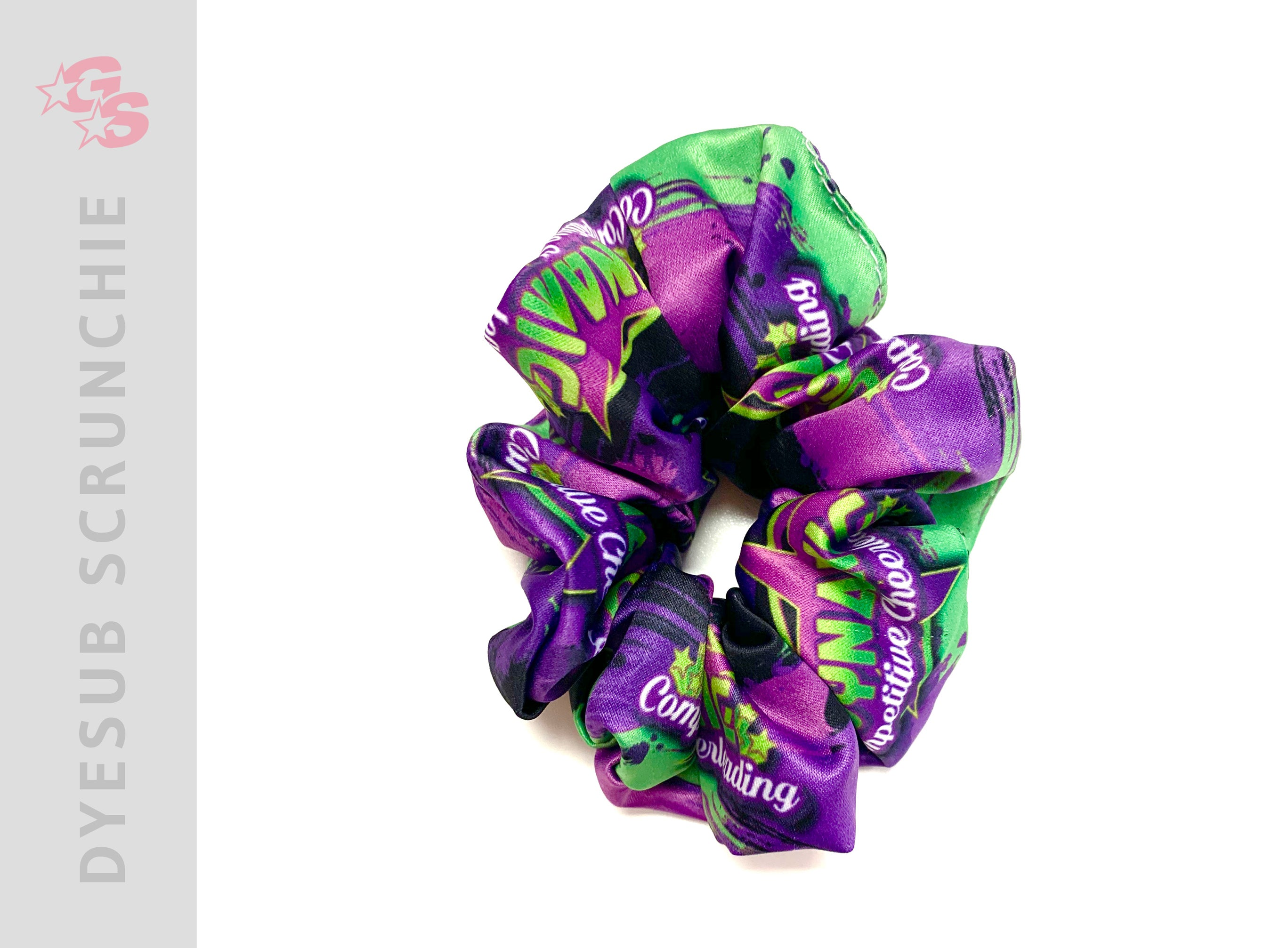 Sublimated Scrunchie with dyesub logo