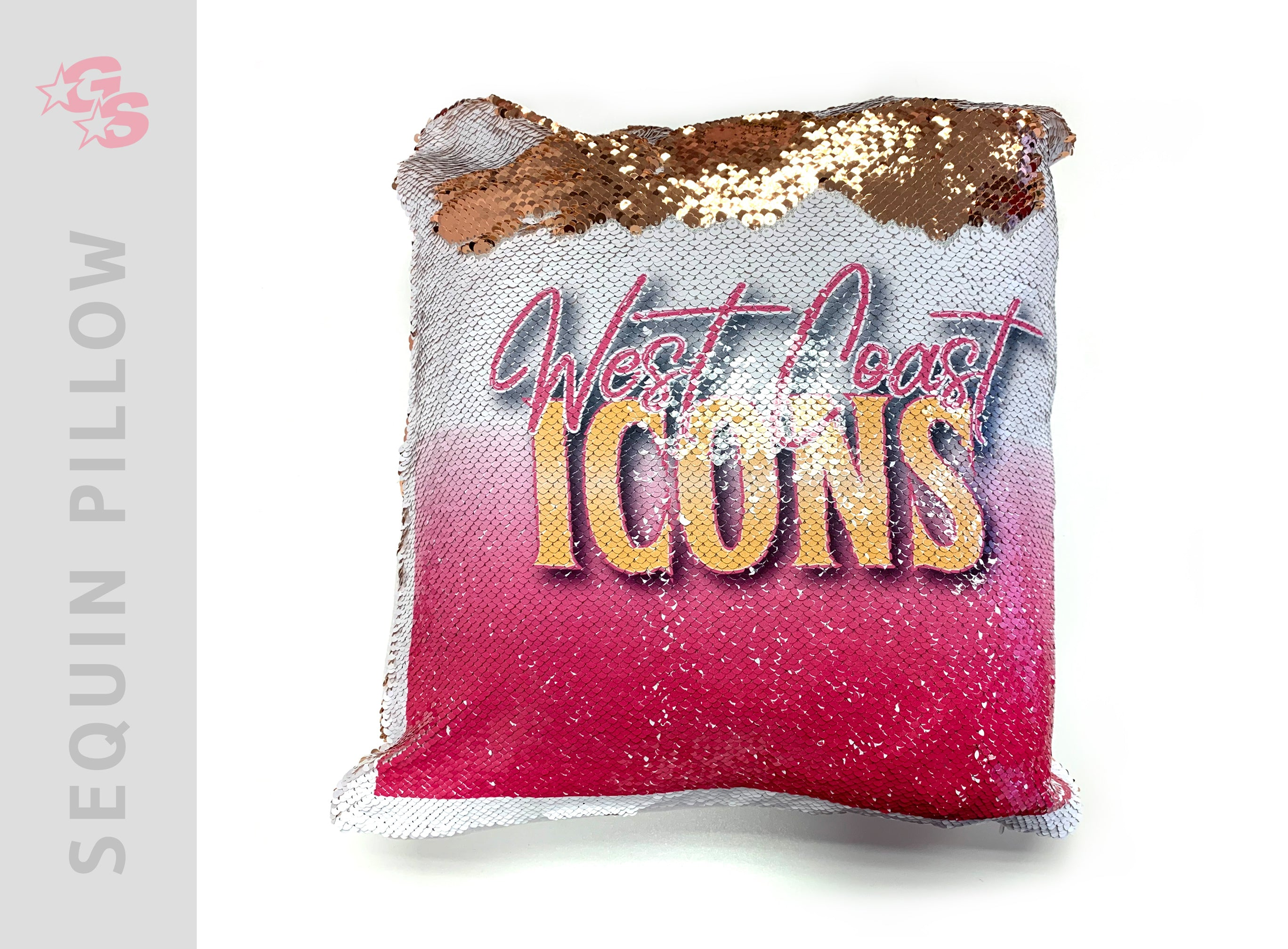 West Coast Icons Sequin Pillowcase