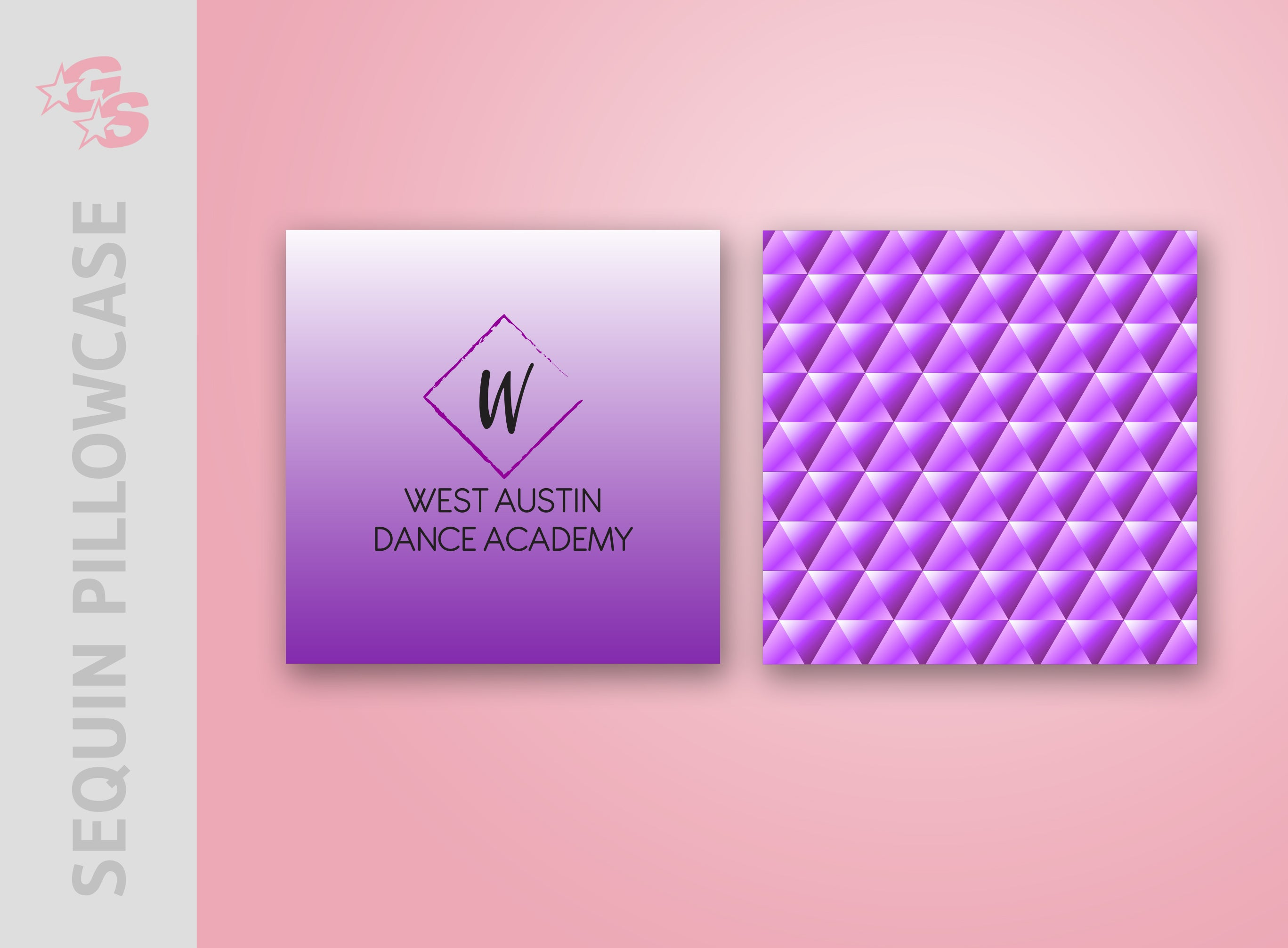 West Austin Dance Academy Sequin Pillowcase