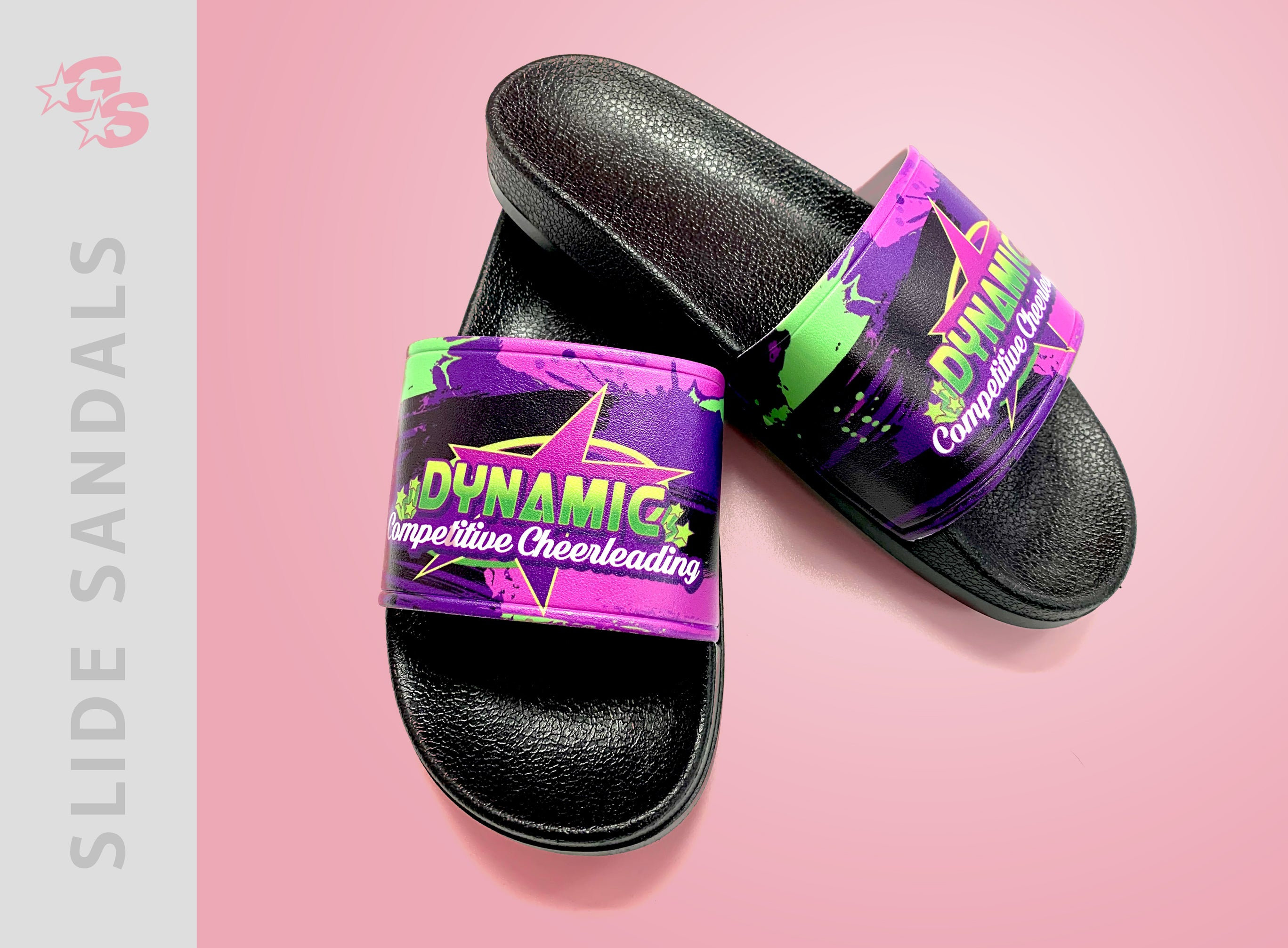 Slide Sandals with dyesub logo