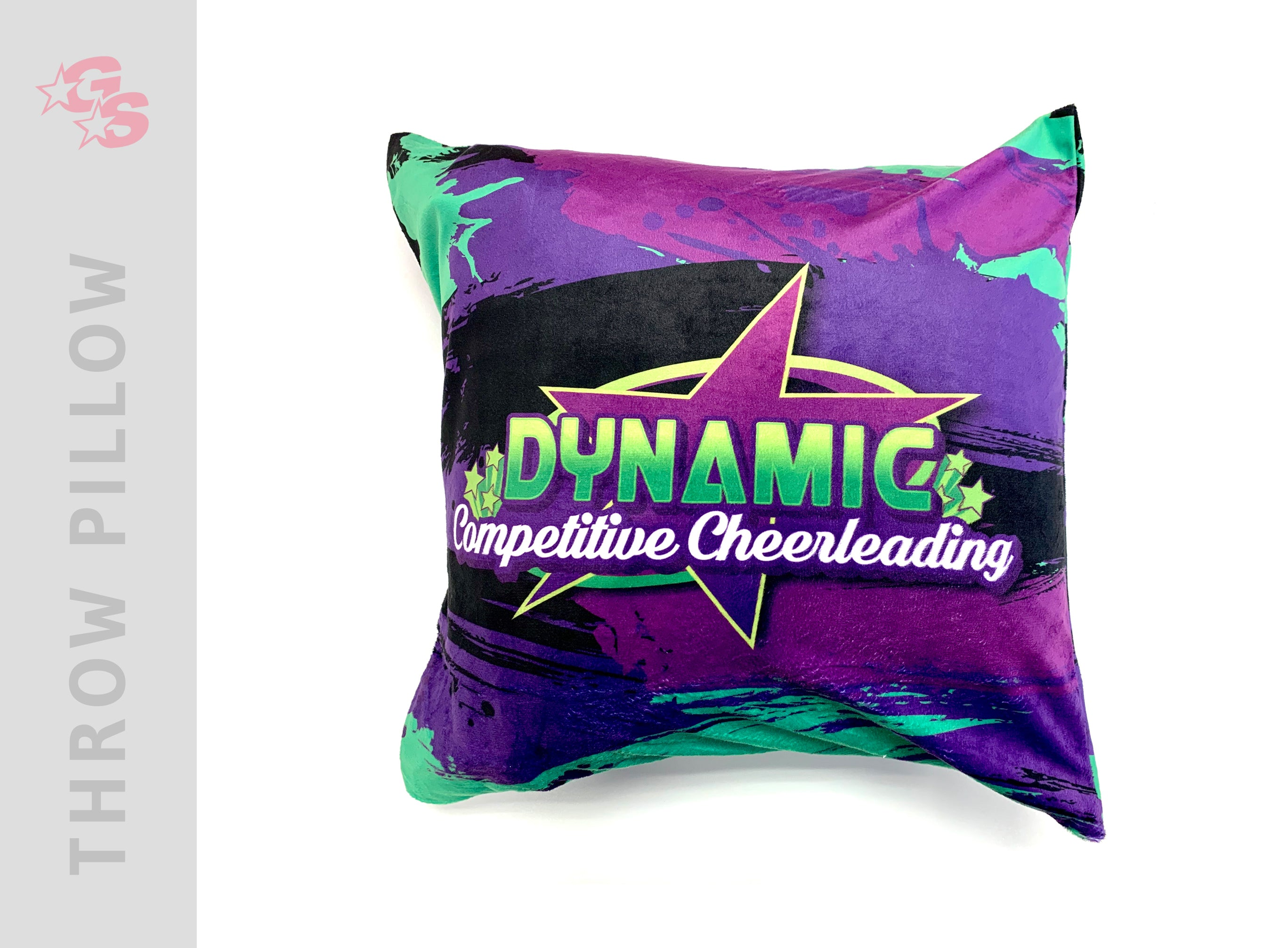 Dynamic Competitive Cheer Square Pillowcase