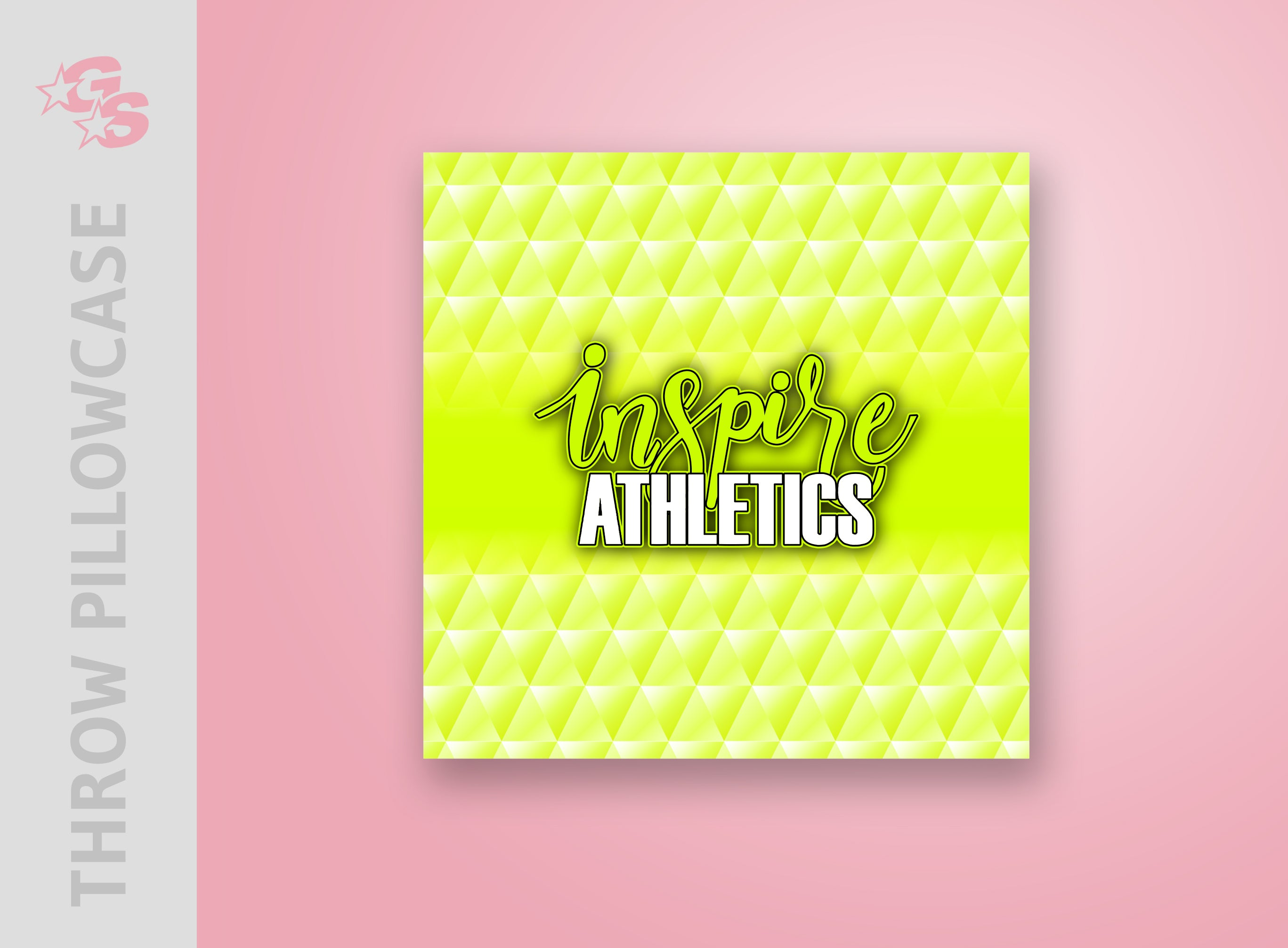 Inspire Athletics Throw Pillowcase