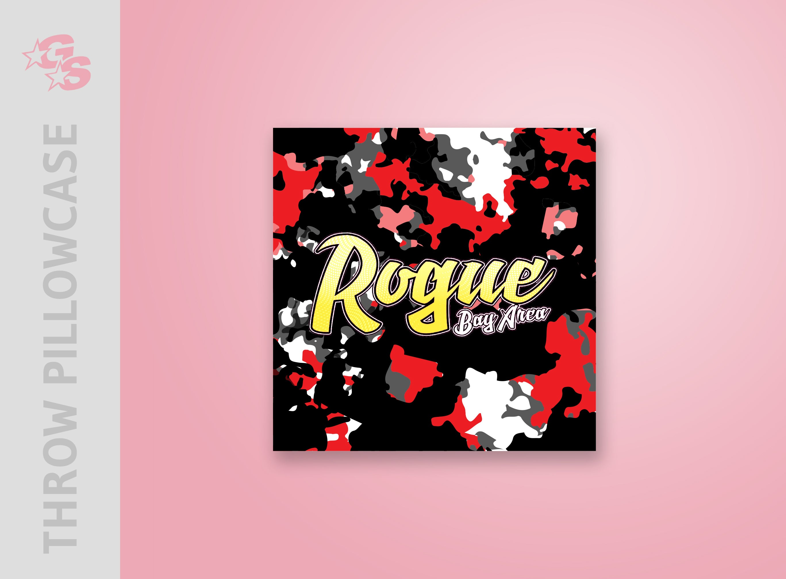 Rogue Athletics Bay Area Throw Pillowcase