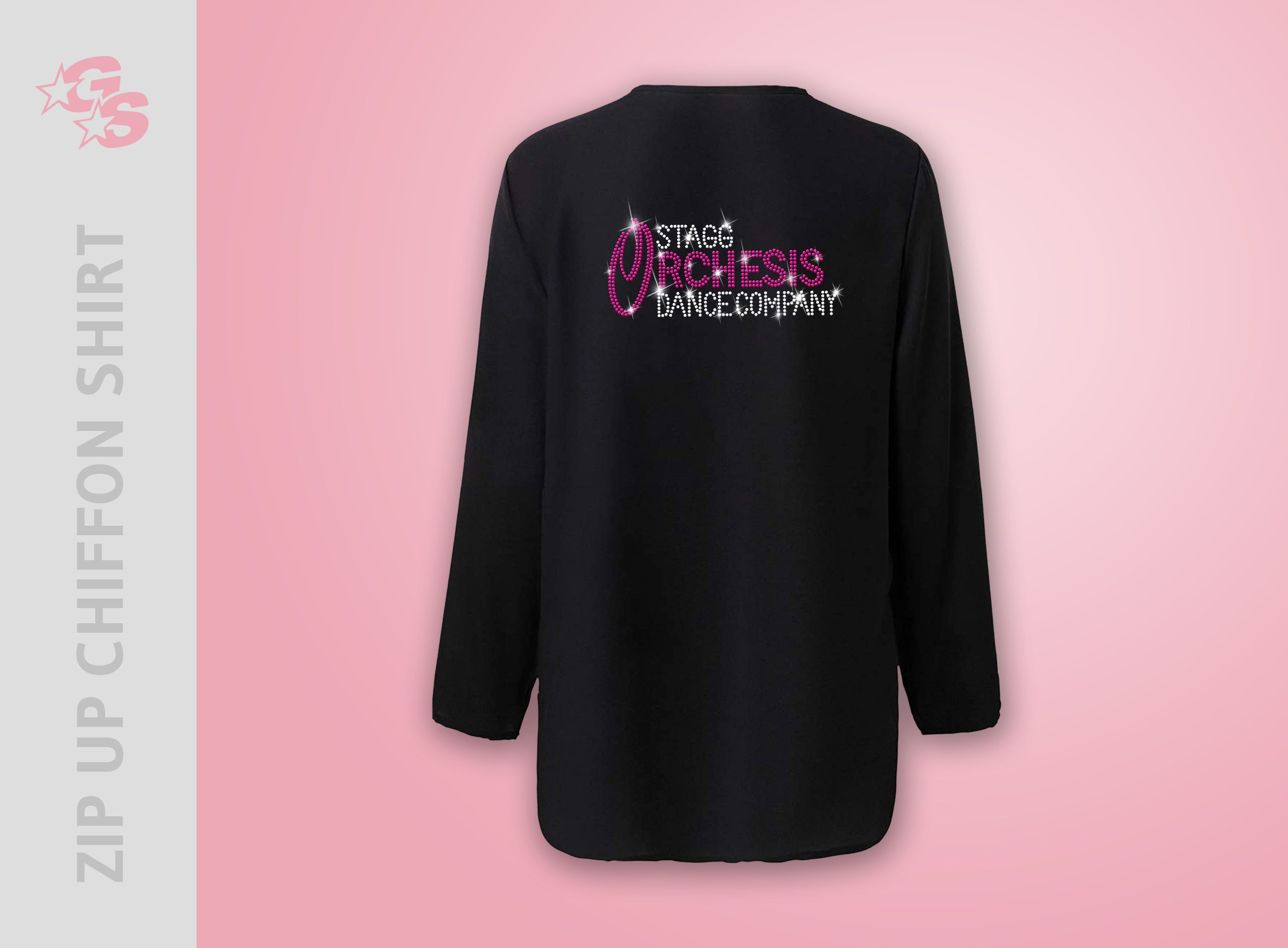 Stagg Orchesis Dance Company Zip Up Chiffon Shirt