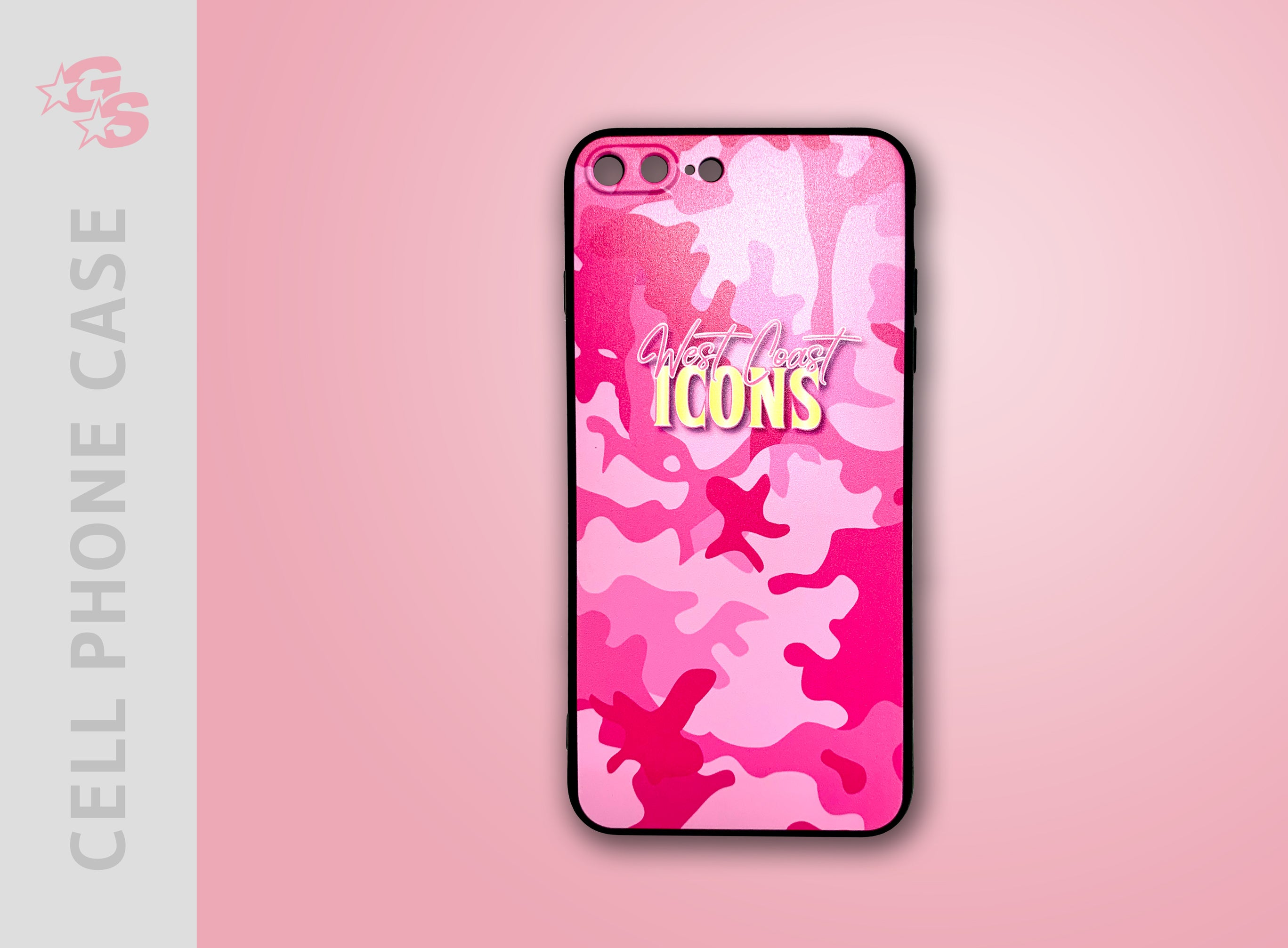 Dyesub cell phone case with logo