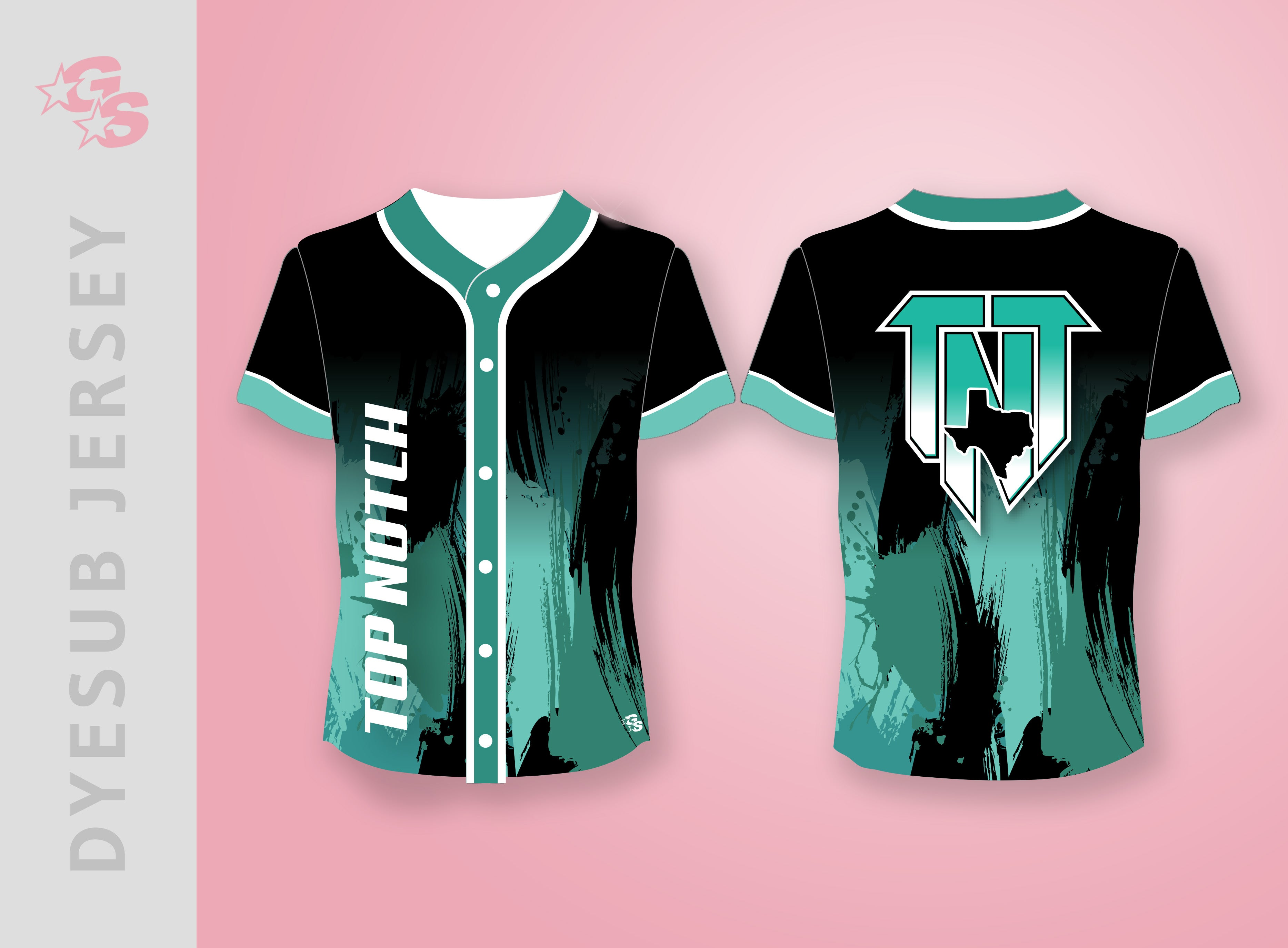 Sublimated Jersey with dyesub logo - TNT Top Notch Tumble