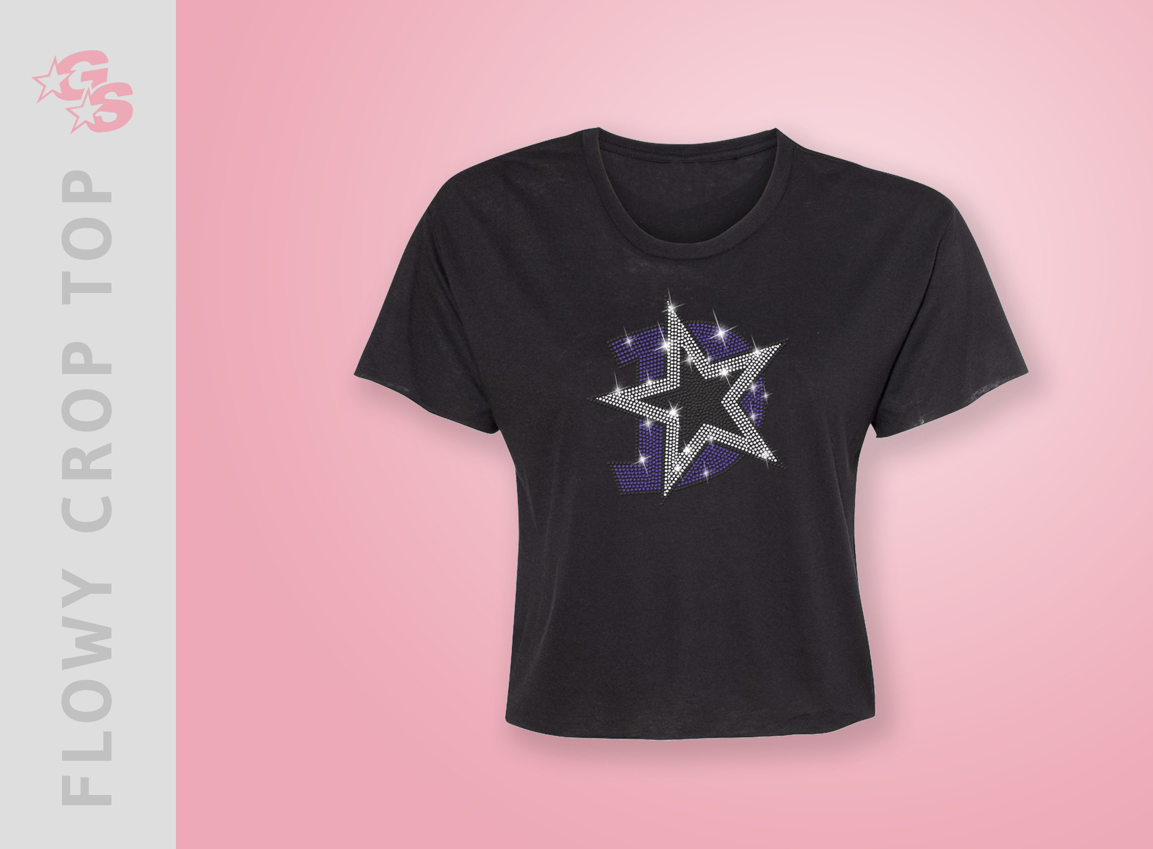Douglasville Cheer Stars Flowy Crop Top