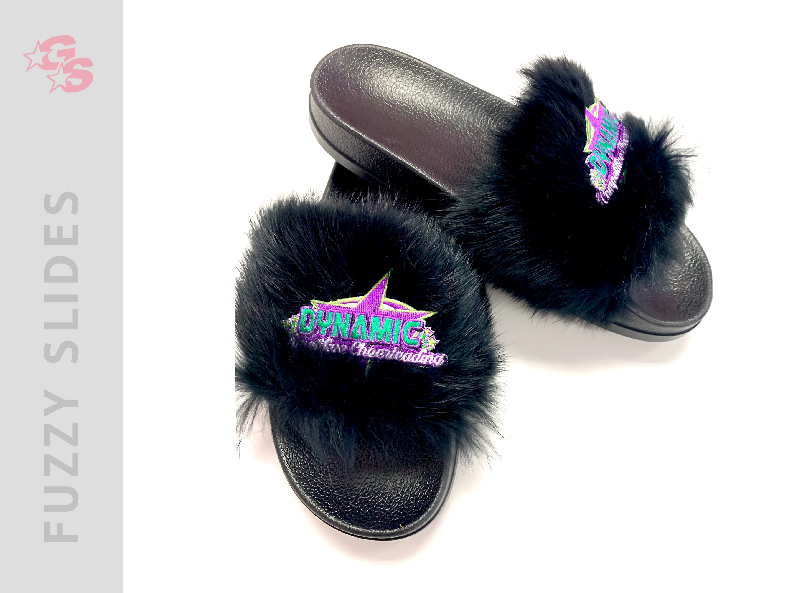 Dynamic Competitive Cheer Fuzzy Slide Sandals