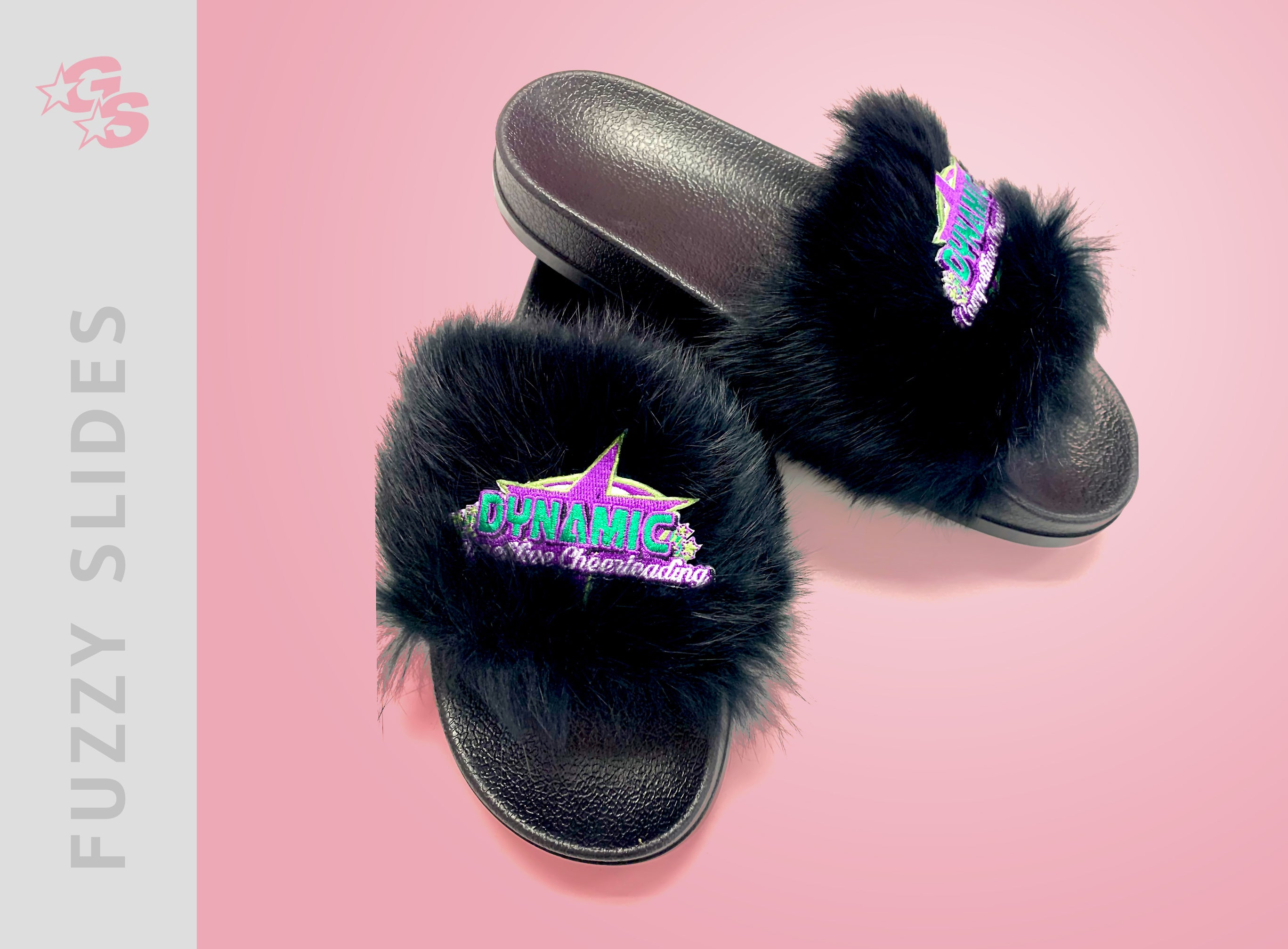 Fuzzy Slide Sandals with logo - Special Loyalty Bundle Pricing