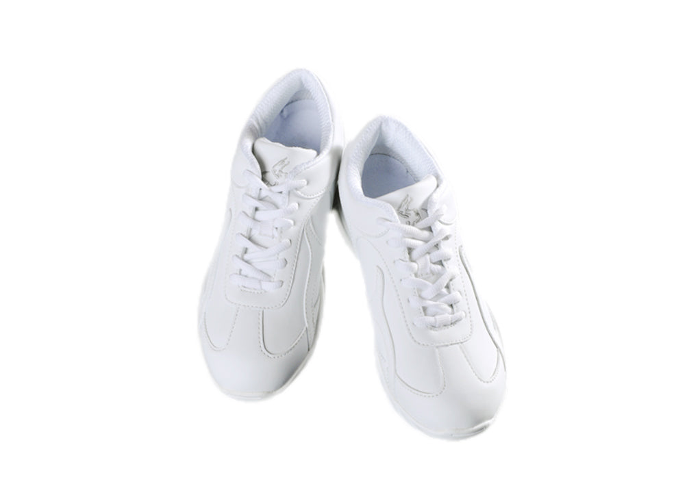 Adrenaline Leather Cheer Shoes (White Low Top)