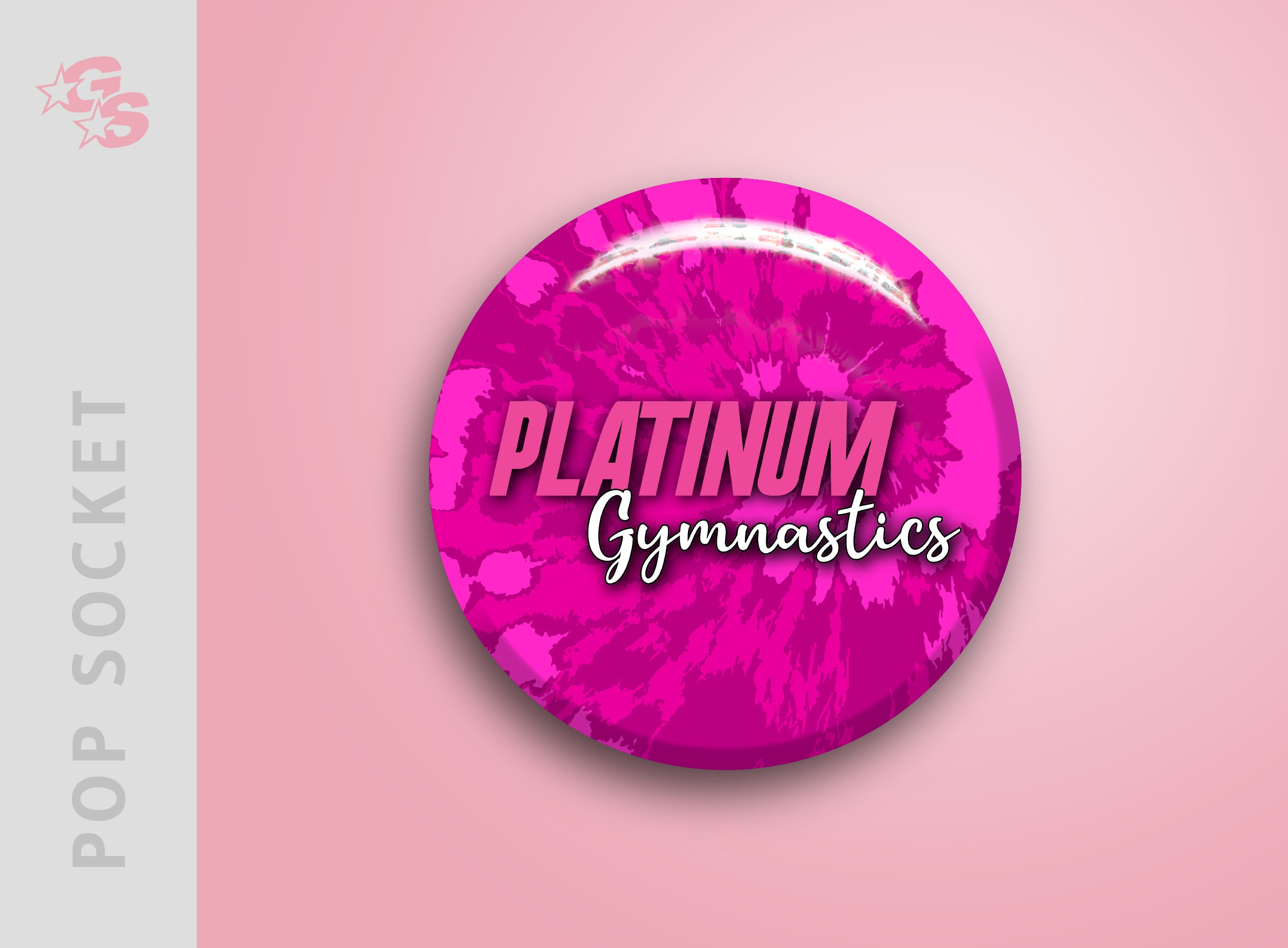Platinum Gymnastics Pop Socket