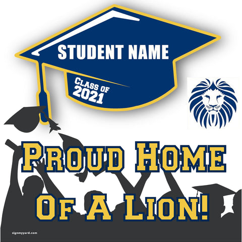 Abraham Lincoln High School 24x24 Class of 2020 Yard Sign (Option B)