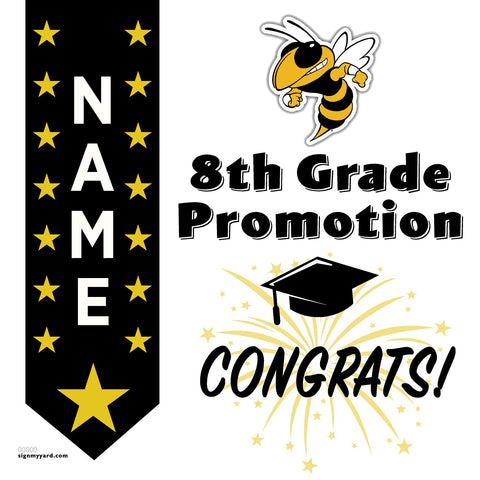 Adams Middle School 8th Grade Promotion 24x24 #shineon2024 Yard Sign (Option B)