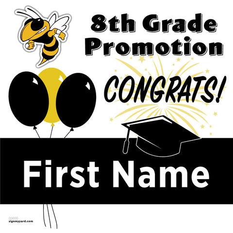 Adams Middle School 8th Grade Promotion 24x24 #shineon2024 Yard Sign (Option A)