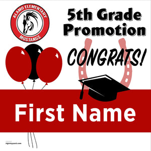 Alamo Elementary School 5th Grade Promotion 24x24 #shineon2027 Yard Sign (Option A)