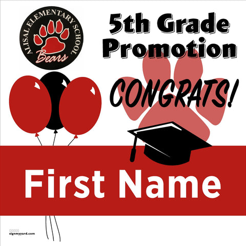 Alisal Elementary School 5th Grade Promotion 24x24 #shineon2027 Yard Sign (Option A)