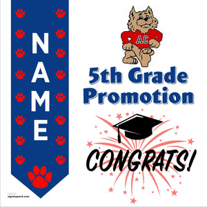 Altamont Creek Elementary School 5th Grade Promotion 24x24 #shineon2027 Yard Sign (Option B)