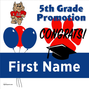 Altamont Creek Elementary School 5th Grade Promotion 24x24 #shineon2027 Yard Sign (Option A)