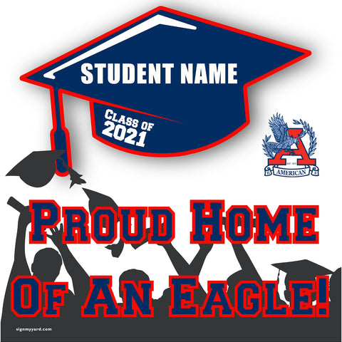 American High School 24x24 Class of 2020 Yard Sign (Option A)