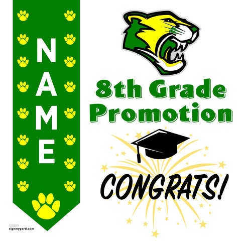 Arden Middle School 8th Grade Promotion 24x24 #shineon2024 Yard Sign (Option B)