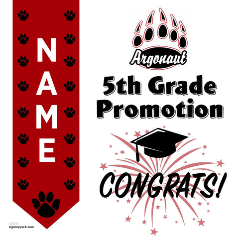 Argonaut Elementary School 5th Grade Promotion 24x24 #shineon2027 Yard Sign (Option B)