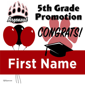 Argonaut Elementary School 5th Grade Promotion 24x24 #shineon2027 Yard Sign (Option A)