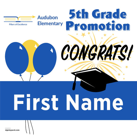 Audubon Elementary School 5th Grade Promotion 24x24 #shineon2027 Yard Sign (Option A)