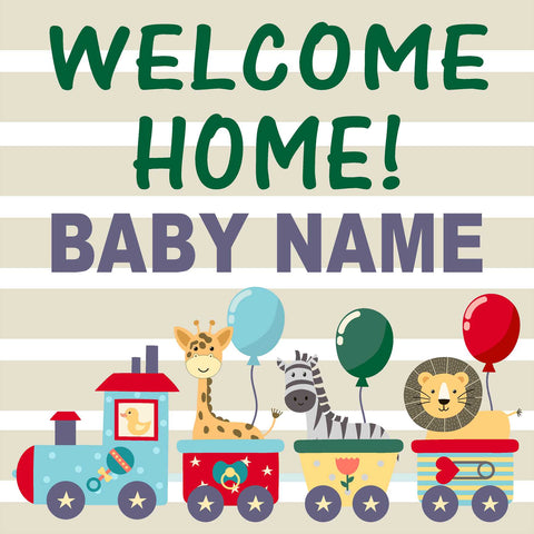Welcome Baby 24x24 Yard Sign (Option A) (Includes Installation Stake) Installed for you!