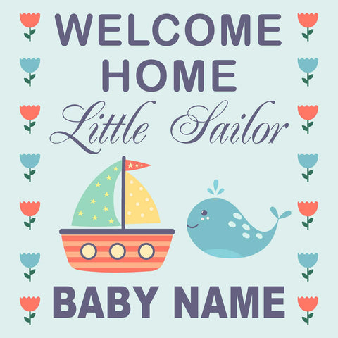 Welcome Baby 24x24 Yard Sign (Option C) (Includes Installation Stake) Installed for you!