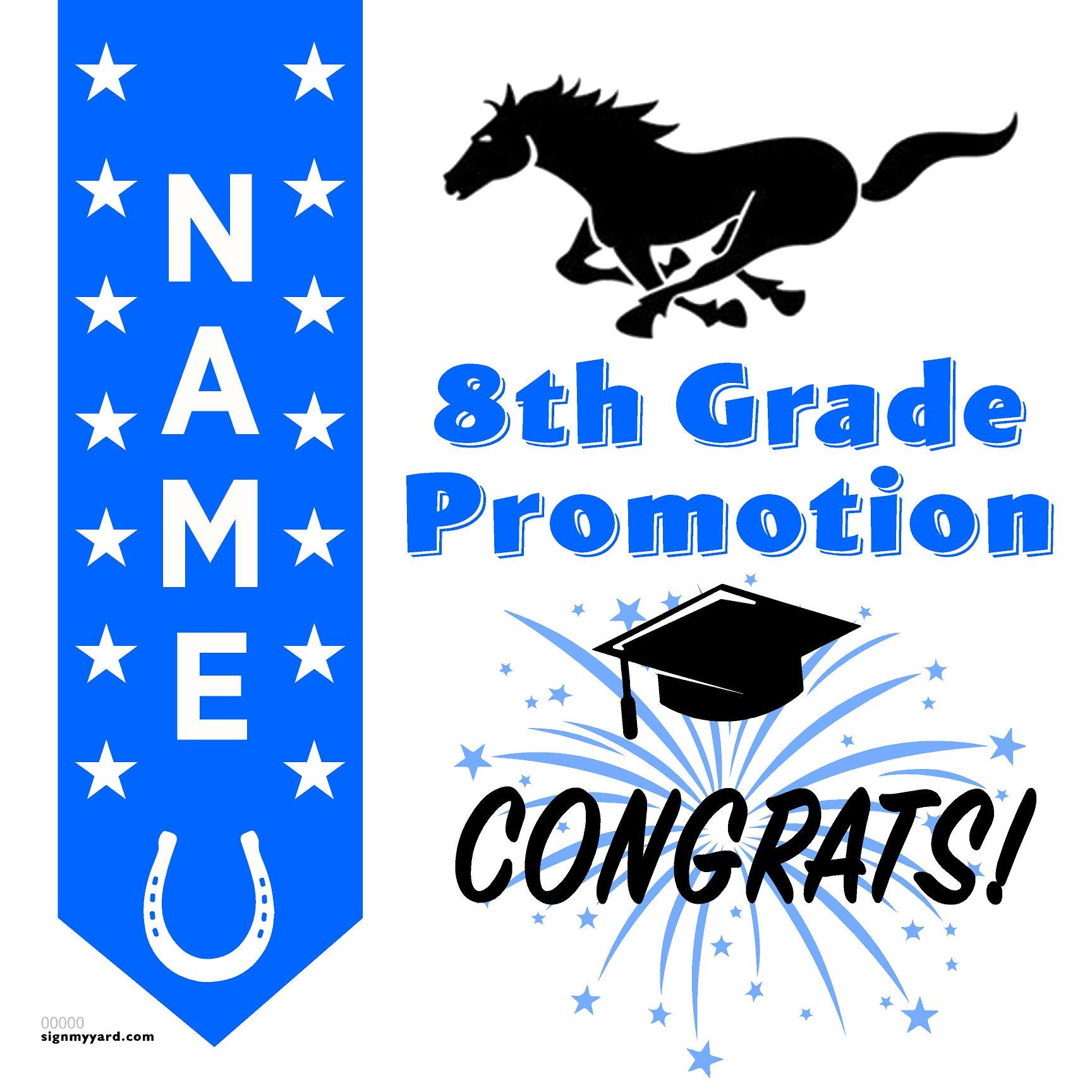 Bancroft Middle School 8th Grade Promotion 24x24 #shineon2024 Yard Sign (Option B)