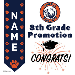 Barbara Chilton Middle School 8th Grade Promotion 24x24 #shineon2024 Yard Sign (Option B)