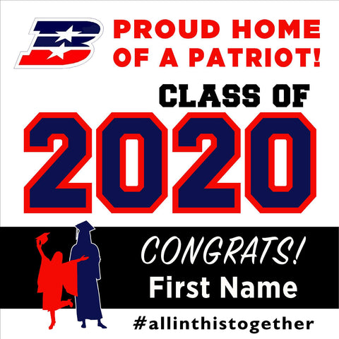 Beyer High School 24x24 Class of 2020 Yard Sign (Option A)