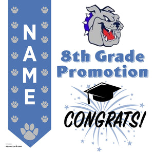 Bohannon Middle School 8th Grade Promotion 24x24 #shineon2024 Yard Sign (Option B)