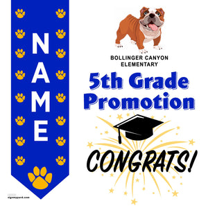 Bollinger Canyon Elementary School 5th Grade Promotion 24x24 #shineon2027 Yard Sign (Option B)