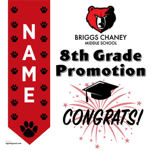 Briggs Chaney Middle School 8th Grade Promotion 24x24 #shineon2024 Yard Sign (Option B)