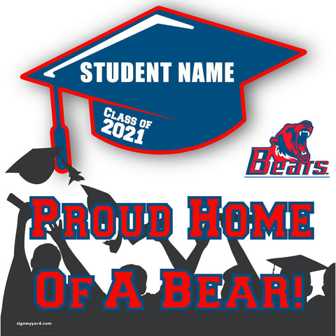 Buchanan High School 24x24 Class of 2021 Yard Sign (Option B)