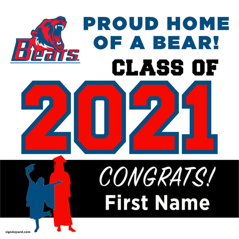 Buchanan High School 24x24 Class of 2021 Yard Sign (Option A)