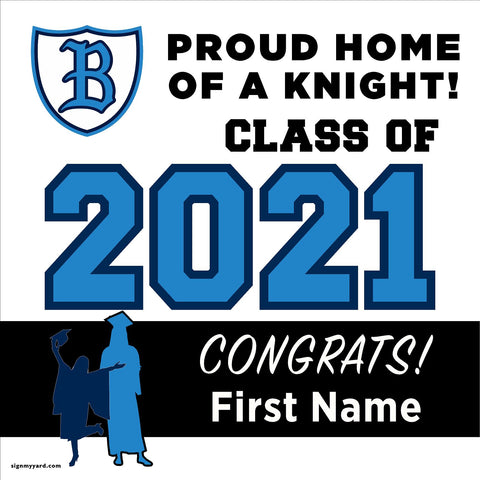 Bullard High School 24x24 Class of 2021 Yard Sign (Option A)