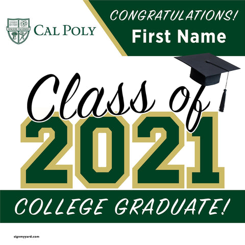 Cal Poly University 24x24 Class of 2021 Yard Sign (Option A)