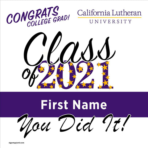 California Lutheran University 24x24 Class of 2021 Yard Sign (Option B)