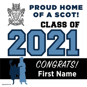Carlmont High School 24x24 Class of 2021 Yard Sign (Option A)
