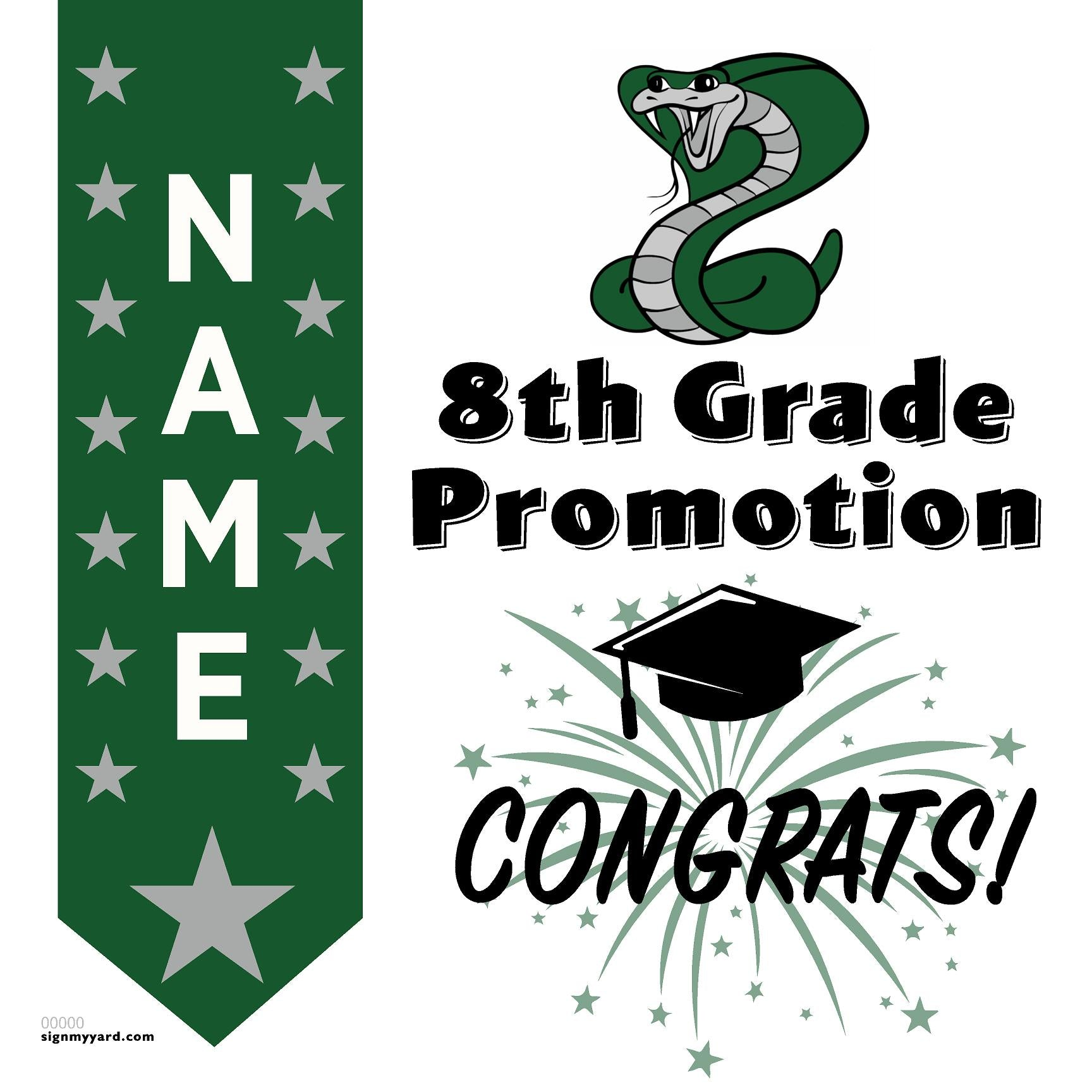 Castillero Middle School 8th Grade Promotion 24x24 #shineon2024 Yard Sign (Option B)