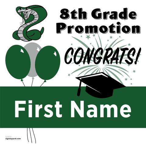 Castillero Middle School 8th Grade Promotion 24x24 Yard Sign (Option A)