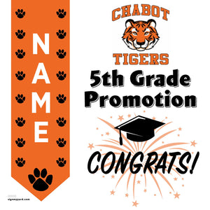Chabot Elementary School 5th Grade Promotion 24x24 #shineon2027 Yard Sign (Option B)
