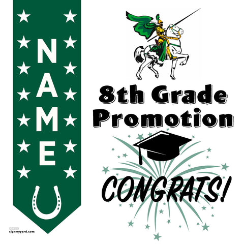 Charlotte Wood Middle School 8th Grade Promotion 24x24 #shineon2024 Yard Sign (Option B)
