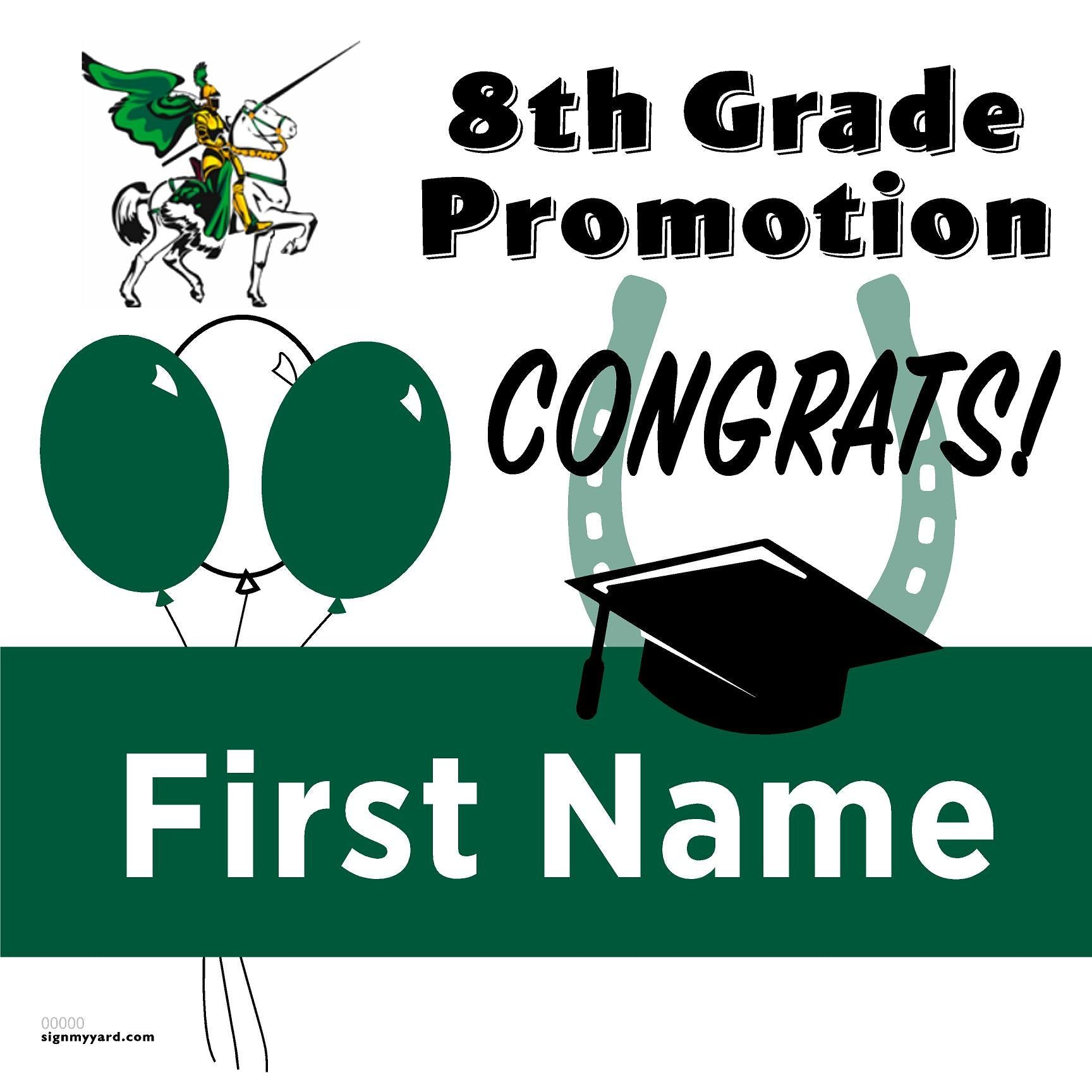 Charlotte Wood Middle School 8th Grade Promotion 24x24 #shineon2024 Yard Sign (Option A)