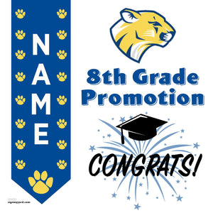 Christensen Middle School 8th Grade Promotion 24x24 #shineon2024 Yard Sign (Option B)