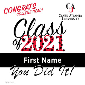 Clark Atlanta University 24x24 Class of 2021 Yard Sign (Option B)